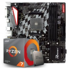 Kit Upgrade Placa Mãe Biostar Racing X470GTQ + Processador AMD Ryzen 7 3800x 3.9GHz