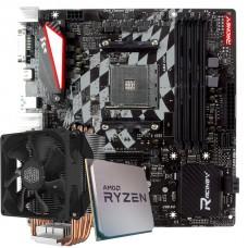 Kit Upgrade Placa Mãe Biostar Racing X470GTQ + Processador AMD Ryzen 9 3900x 3.8GHz + Cooler Master Hyper H412R