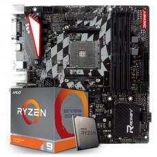 Kit Upgrade Placa Mãe Biostar Racing X470GTQ + Processador AMD Ryzen 9 3900x 3.8GHz