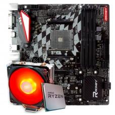 Kit Upgrade Placa Mãe Biostar Racing X470GTQ + Processador AMD Ryzen 9 3900x 3.8GHz + Cooler Deepcool Gammaxx 400 de 120mm