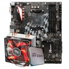 Kit Upgrade Placa Mãe Biostar Racing X470GTA + Processador AMD Ryzen 7 3800x 3.9GHz + Cooler Deepcool Gammaxx 400 de 120mm