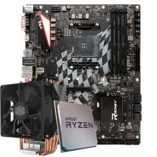 Kit Upgrade Placa Mãe Biostar Racing X470GTA + Processador AMD Ryzen 9 3900x 3.8GHz + Cooler Master Hyper H412R