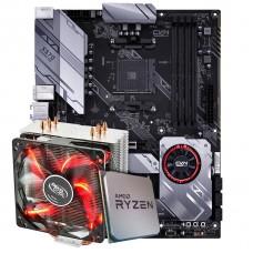Kit Upgrade Placa Mãe Colorful CVN X570 Gaming Pro V14 + Processador AMD Ryzen 7 3800x 3.9GHz + Cooler Gammaxx 400