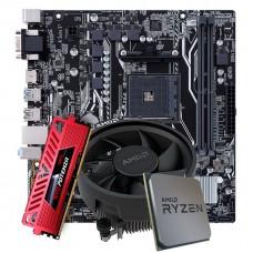 Kit Upgrade Placa Mãe Asus Prime A320M-K DDR4 + Processador AMD Ryzen 5 3500 3.6GHz + Memória DDR4 16GB 3000MHz