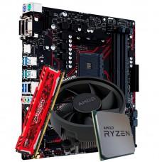 Kit Upgrade Asus Prime B450M Gaming/BR DDR4 + Processador AMD Ryzen 5 3500 3.6GHz + Memória DDR4 8GB 2666MHz