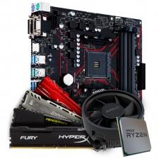 Kit Upgrade Placa Mãe Asus Prime B450M Gaming/BR AMD AM4 + Processador AMD Ryzen 5 3500 3.6GHz + Memória DDR4 8GB 2666MHz