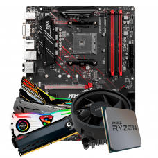 Kit Upgrade Placa Mãe MSI B450 Gaming Plus MAX + Processador AMD Ryzen 5 3600 3.6GHz + Memória DDR4 8GB 3000MHz