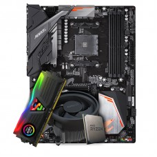 Kit Upgrade Placa Mãe Gigabyte B450 Aorus Elite AMD AM4 + Processador AMD Ryzen 5 3600 3.6GHz + Memória DDR4 8GB 3000MHz