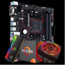 Kit Upgrade Placa Mãe Asus Prime B450M Gaming/BR DDR4 AM4 + Processador Amd Ryzen 7 2700x 3.7ghz + Memória DDR4 8GB 3000MHz