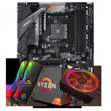 Kit Upgrade Placa Mãe Gigabyte B450 Aorus Elite DDR4 AM4 + Processador Amd Ryzen 7 2700x 3.7ghz + Memória DDR4 16GB (2X8GB) 3000MHz