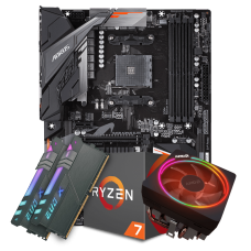 Kit Upgrade Placa Mãe Gigabyte B450 Aorus Elite DDR4 AM4 + Processador Amd Ryzen 7 2700x 3.7ghz + Memória DDR4 16GB (2X8GB) 3200MHz
