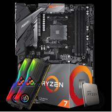 Kit Upgrade Placa Mãe Gigabyte B450 Aorus Elite DDR4 AM4 + Processador AMD Ryzen 7 2700 3.2GHz + Memória DDR4 16GB (2X8GB) 3000MHz