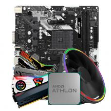 Kit Upgrade, AMD Athlon 200GE, ASRock A320M-HD R4.0, Memória DDR4 8GB 3000MHz