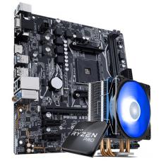 Kit Upgrade, AMD Ryzen 3 PRO 3200GE 3.8GHz Turbo + Cooler, + Asus Prime A320M-K