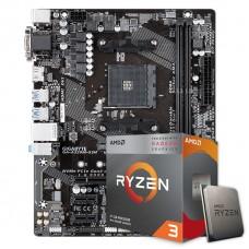 Kit Upgrade Placa Mãe Gigabyte GA-A320M-S2H AMD AM4 + Processador AMD Ryzen 3 3200G 3.6GHz