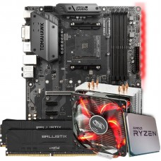 Kit Upgrade Placa Mãe MSI B450 Tomahawk AMD AM4 + Processador AMD Ryzen 7 3800x 3.9GHz + Memória DDR4 16GB (2X8GB) 3000MHz