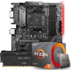 Kit Upgrade, AMD Ryzen 7 3800X, MSI B450 Tomahawk, Memória DDR4 16GB (2X8GB) 3000MHz