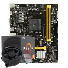 Kit Upgrade Placa Mãe Biostar B450MH, AMD AM4 + Processador AMD Ryzen 5 2600 3.4GHz