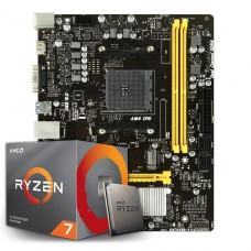 Kit Upgrade Placa Mãe Biostar B450MH, AMD AM4 + Processador AMD Ryzen 7 2700 3.2GHz