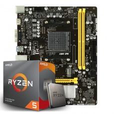 Kit Upgrade Placa Mãe Biostar B450MH, AMD AM4 + Processador AMD Ryzen 5 3600 3.6GHz