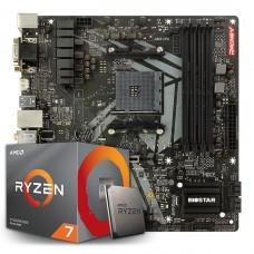 Kit Upgrade Biostar Racing B450GT3 AMD AM4 + Processador AMD Ryzen 7 2700 3.2GHz