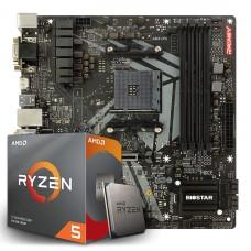 Kit Upgrade Biostar Racing B450GT3 AMD AM4 + Processador AMD Ryzen 5 3600 3.6GHz