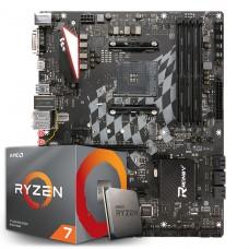 Kit Upgrade Placa Mãe Biostar Racing X470GTA + Processador AMD Ryzen 7 3700x 3.6GHz