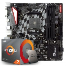 Kit Upgrade Placa Mãe Biostar Racing X470GTQ + Processador AMD Ryzen 7 3700x 3.6GHz