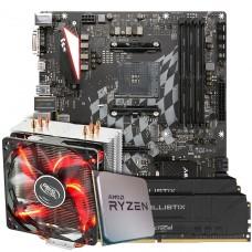 Kit Upgrade Placa Mãe Biostar Racing X470GTA + Processador AMD Ryzen 7 3800x 3.9GHz  + Memória DDR4 16GB (2X8GB) 3000MHz