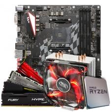 Kit Upgrade Placa Mãe Biostar Racing X470GTA + Processador AMD Ryzen 7 3800x 3.9GHz  + Cooler Deepcool Gammaxx 400 de 120mm + Memória DDR4 16GB (2X8GB) 3000MHz