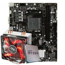 Kit Upgrade Placa Mãe Biostar Racing X470MH + Processador AMD Ryzen 7 3800x 3.9GHz + Deepcool Gammaxx 400
