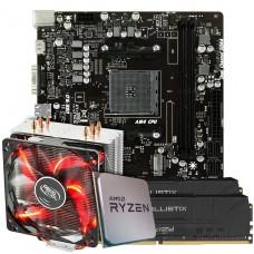 Kit Upgrade Placa Mãe Biostar Racing X470MH + Processador AMD Ryzen 7 3800x 3.9GHz + Memória DDR4 16GB (2x8GB) 3000MHZ
