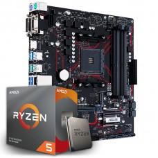Kit Upgrade Asus Prime B450M Gaming/BR DDR4 + Processador AMD Ryzen 5 3600 3.6GHz