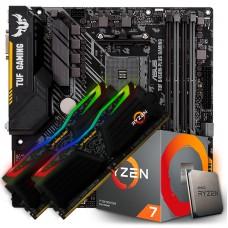 Kit Upgrade, AMD Ryzen 7 3700x, Asus TUF B450M-PLUS GAMING, Memória TUF DDR4 16GB (2x8GB) 3000MHz