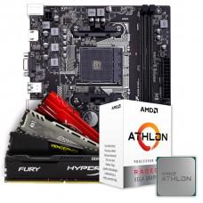 Kit Upgrade Placa Mãe Colorful A320M-K PRO V14, AMD AM4 + Processador AMD Athlon 3000G 3.5GHz + Memória DDR4 16GB (2x8GB) 3000MHz