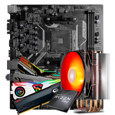 Kit Upgrade, AMD Ryzen 3 PRO 3200GE 3.8GHz Turbo + Cooler + Galax A320M + Memória DDR4 8GB 3000MHz