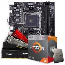 Kit Upgrade Placa Mãe Colorful A320M-K PRO V14, AMD AM4 + Processador AMD Ryzen 3 3200G 3.6GHz + Memória DDR4 16GB (2x8GB) 3000MHz