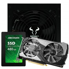 Kit FPS, Placa de Vídeo Galax GeForce RTX 2060 Super + Fonte Riotoro Onyx 650W + SSD 480GB, Sata III