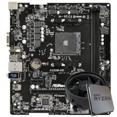 Kit Upgrade, AMD Ryzen 5 3400G, Asrock A320M-HD