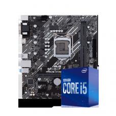 Kit Upgrade Intel Placa Mãe Asus Prime H410M-E, Chipset H410, Intel 1200 + Processador Intel Core i5 10400, 2.90GHz, (4.30GHz Turbo)