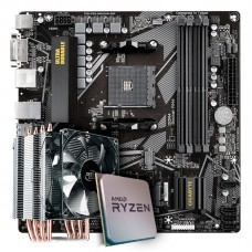 Kit Upgrade Placa Mãe Gigabyte B550M DS3H AMD AM4 + Processador AMD Ryzen 7 3800x 3.9GHz + Cooler Deepcool Gammaxx