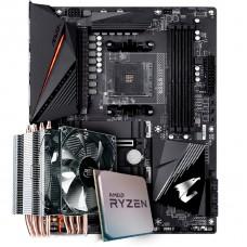 Kit Upgrade Placa Mãe Gigabyte B550 Aorus Pro, Chipset B550 AMD AM4 + Processador AMD Ryzen 9 3900x 3.8GHz + Cooler Deepcool Gammaxx