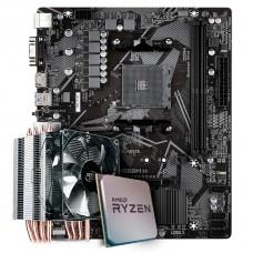 Kit Upgrade Placa Mãe Gigabyte B550M H, Chipset B550 AMD AM4 + Processador AMD Ryzen 9 3900x 3.8GHz + Cooler Deepcool Gammaxx