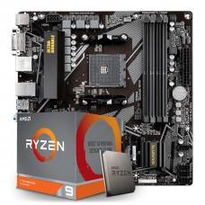 Kit Upgrade Placa Mãe Gigabyte B550M DS3H AMD AM4  + Processador AMD Ryzen 9 3900XT 4.7GHz