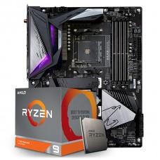 Kit Upgrade Placa Mãe Gigabyte B550 Aorus Master AMD AM4  + Processador AMD Ryzen 9 3900XT 4.7GHz