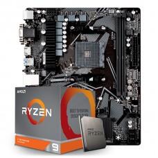 Kit Upgrade Placa Mãe Gigabyte B550M S2H AMD AM4  + Processador AMD Ryzen 9 3900XT 4.7GHz
