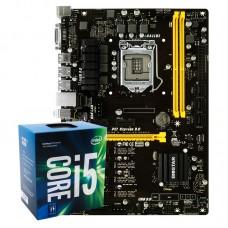 Kit Upgrade Placa Mãe Biostar PRO TB250BTC Intel LGA 1151 ATX DDR4 + Processador Intel Core i5 7400 3.0GHz