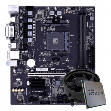Kit Upgrade, AMD Ryzen 3 PRO 4350G, Colorful Battle-AX B450M-HD V14
