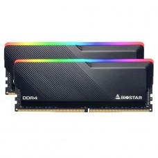 Memória DDR4 Biostar Gaming X, 16GB (2x8GB), 3600MHz, RGB, Black, DHD36EU4RP-VB18A-BS2