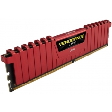 Memória DDR4 Corsair Vengeance LPX, 8GB 2400MHz, Red, CMK8GX4M1A2400C16R